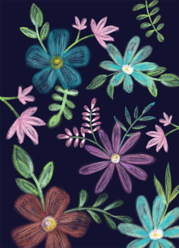 Kreideblumen