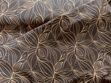 Design Organic Lines mit Kupfer Metallicprint, Bio BW Jersey